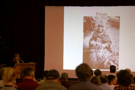 Kathy Moskowitz Strain talks about bigfoot and Native Americans. Photo: Alex Diaz